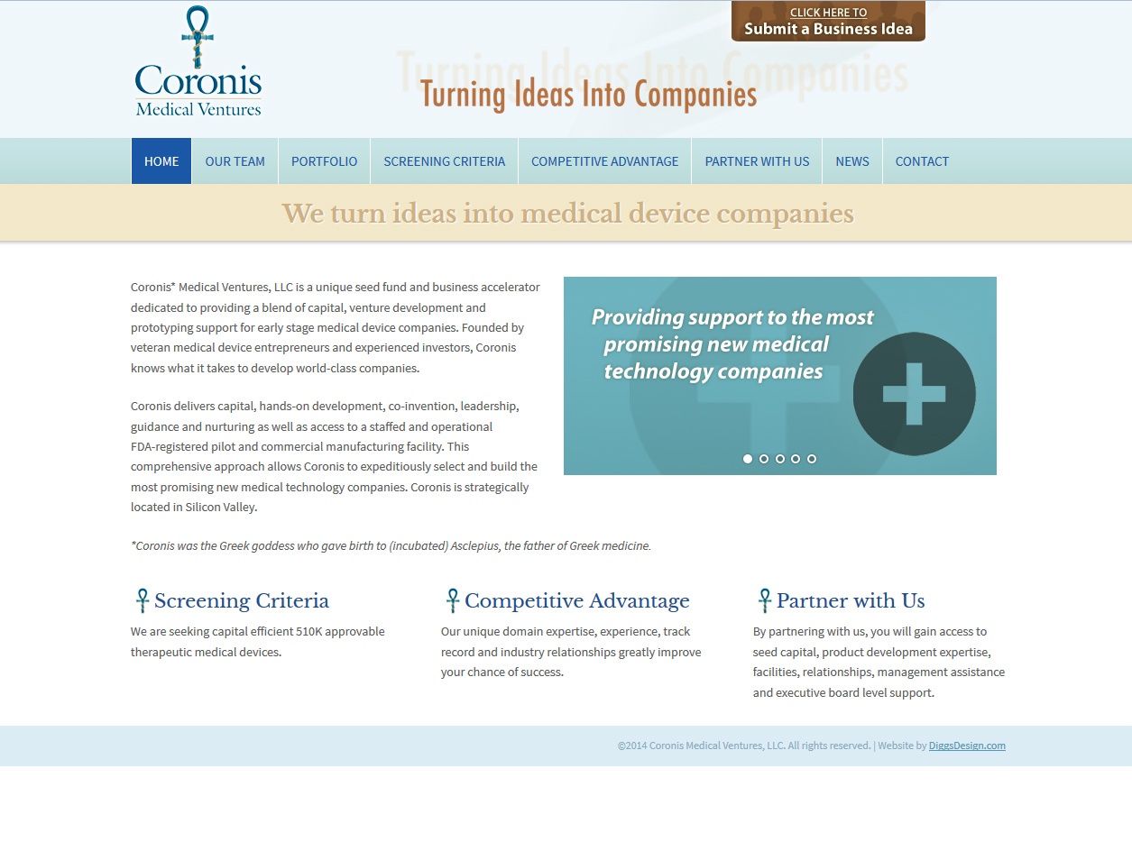 See Coronis Medical Ventures Project