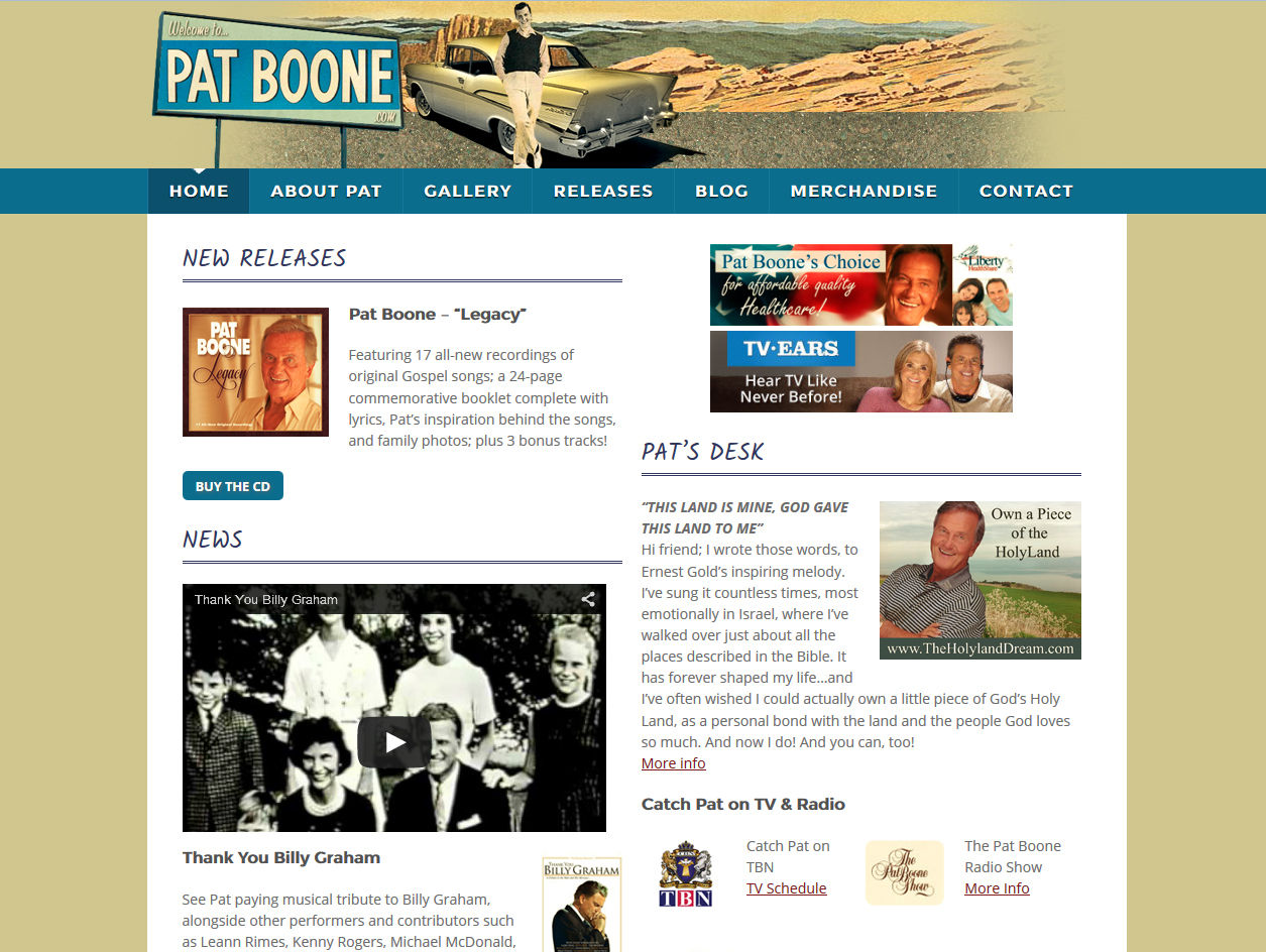 See Pat Boone Project