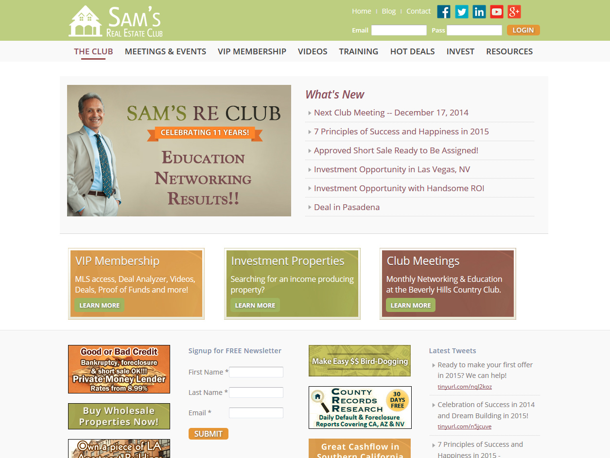See Sam's Real Estate Club Project